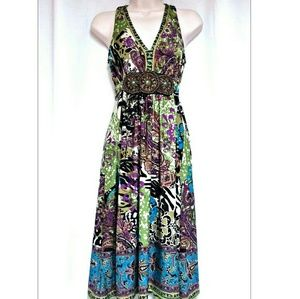 *SALE* Boho Beaded Accent Maxi-Dress  Small